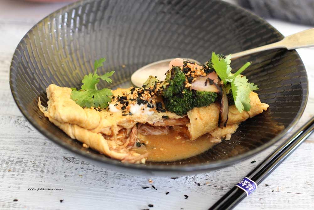 Miso Dashi Omelette half eaten