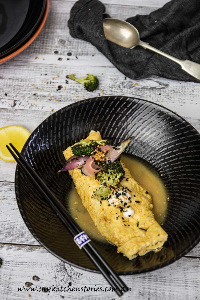 Miso Dashi Omlette makes the perfect brunch