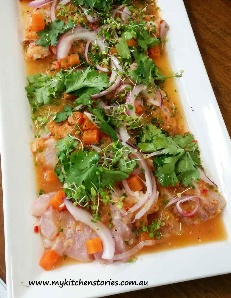 Ceveche. Miguels Tapas Lunch. My Kitchen Stories