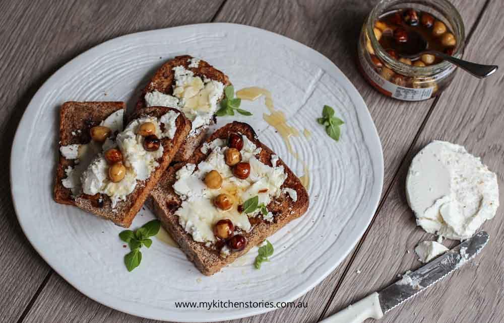 Purple Wheat Bread with truffle honey