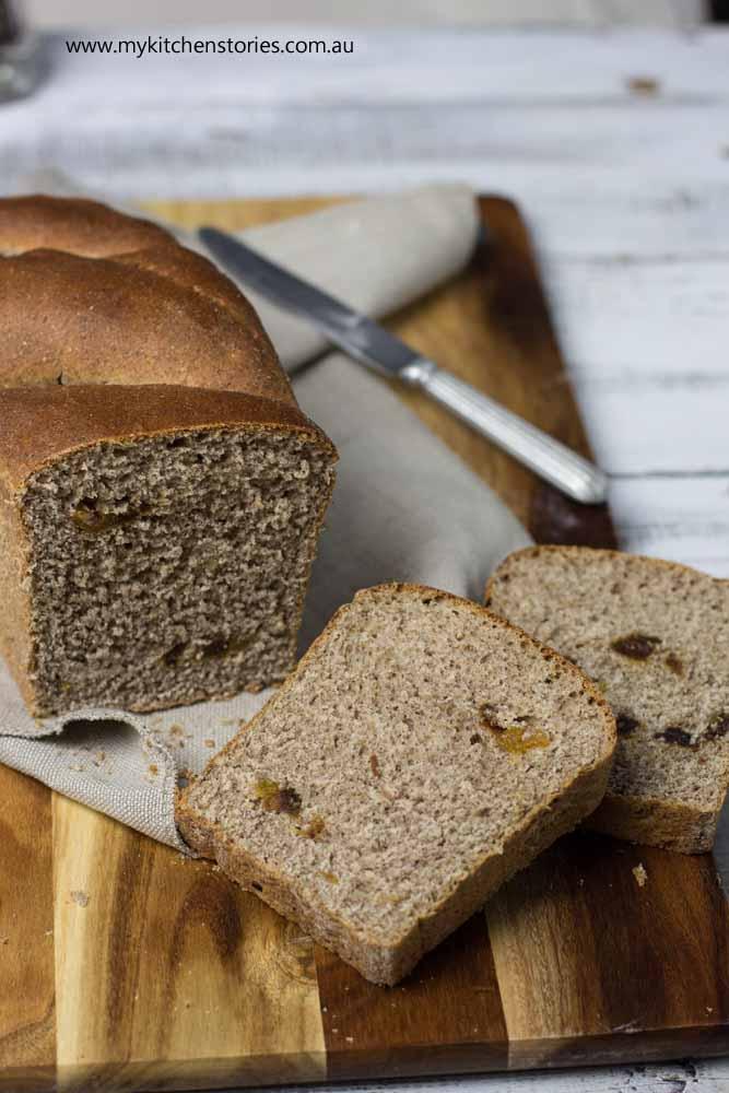 Purple Wheat Bread sliced