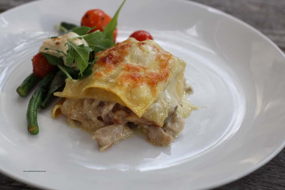 White lasagne