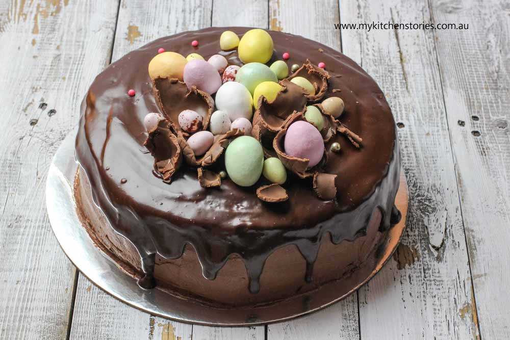 Gorgeous Chocolate Cake With Easter Eggs My Kitchen Stories