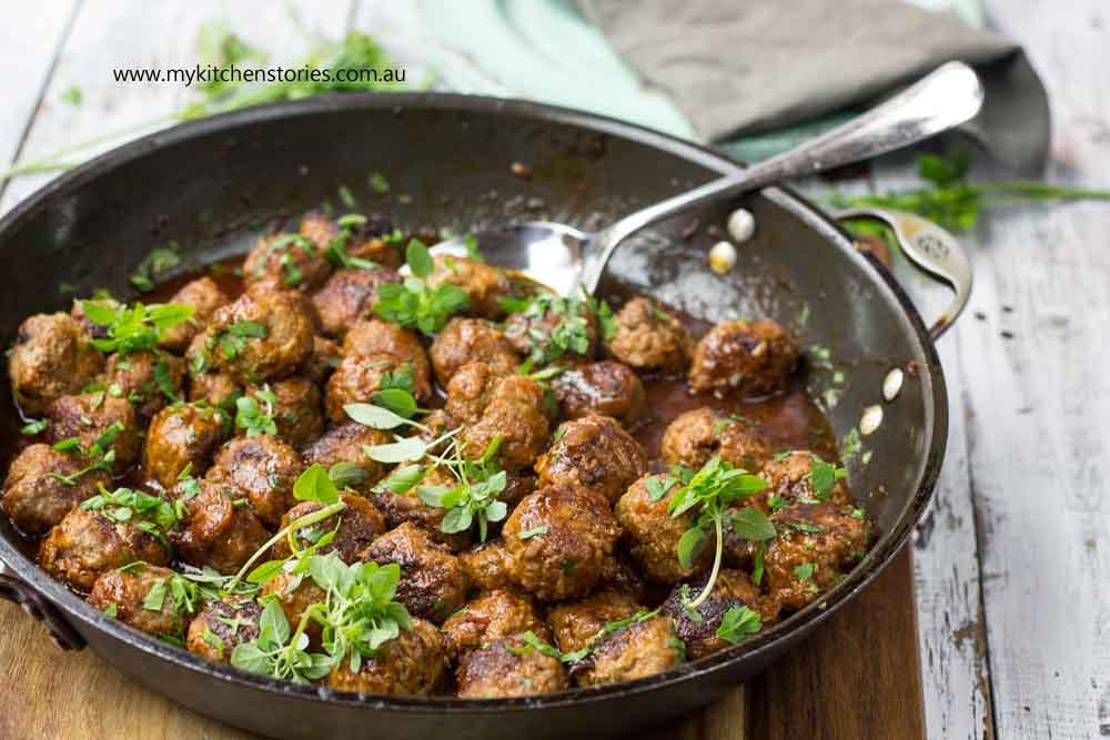 maple, Chilli meatballs