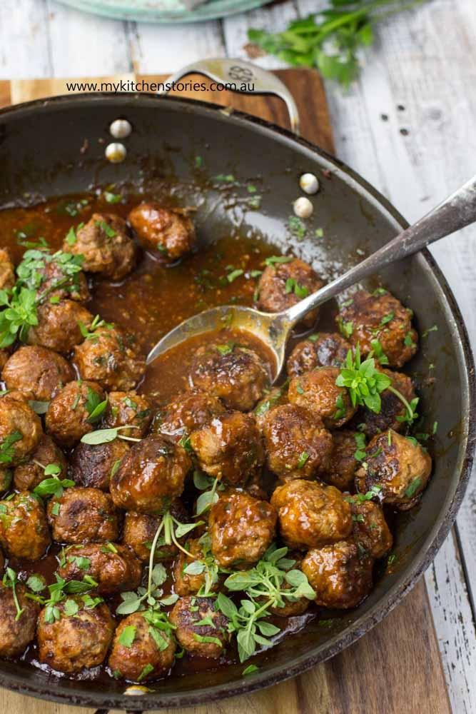 Chilli maple meatballs