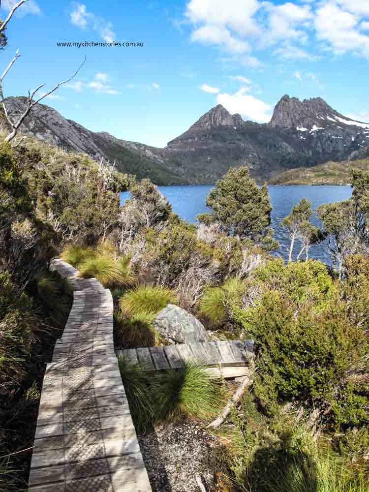 Walking the lake, Tasmania