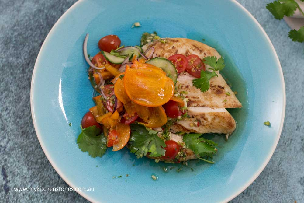 Chicken Persimmon salad