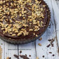 No bake Chocolate Peanut Butter Tart
