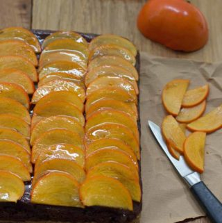 Persimmon Chocolate Mousse tart