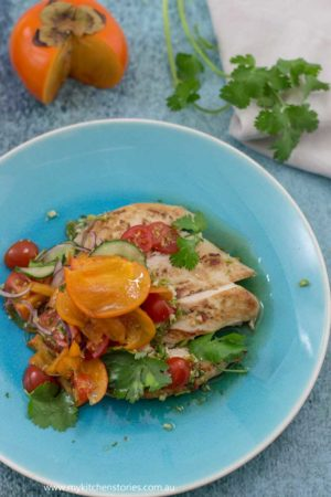 Thai Persimmon Chicken salad
