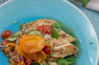 Thai Persimmon Chicken salad