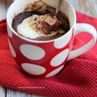 Leftover Rice Chocolate Peanut Butter mug cake