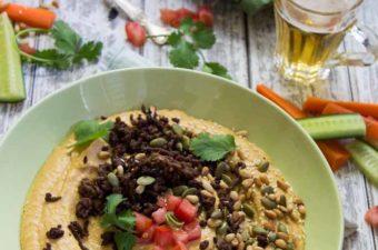 Hummus, Crispy Lamb