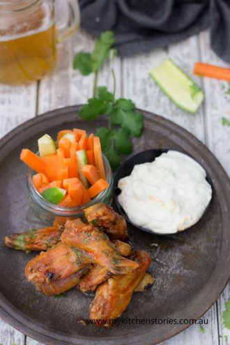 Chicken Wings, Blue Cheese Dip