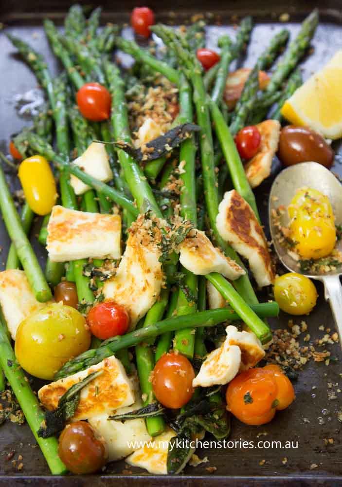Asparagus, Tomato Parmesan Salad