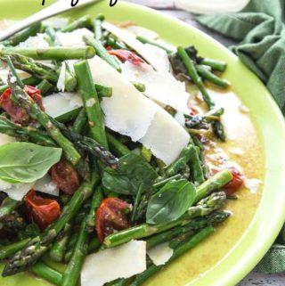 Asparagus Tomato parmesan salad