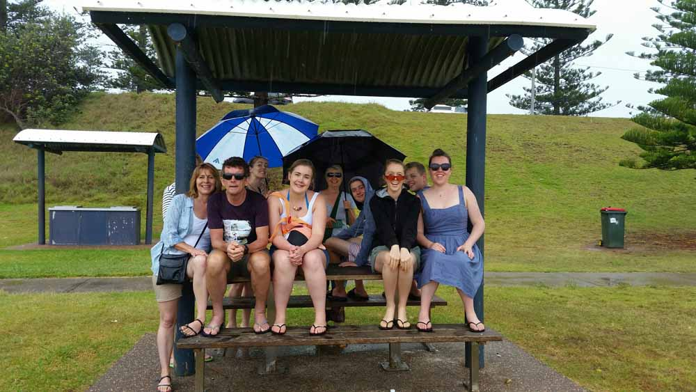 In the rain at port macquarie