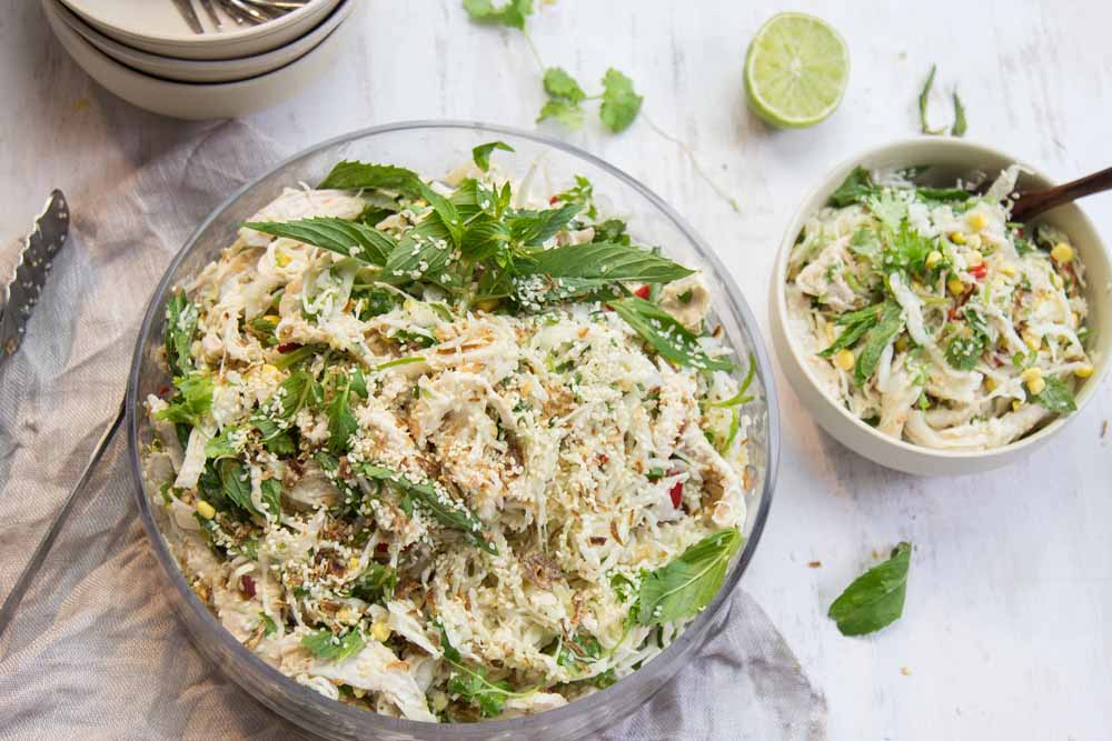 Chicken Sesame salad with Cabbage
