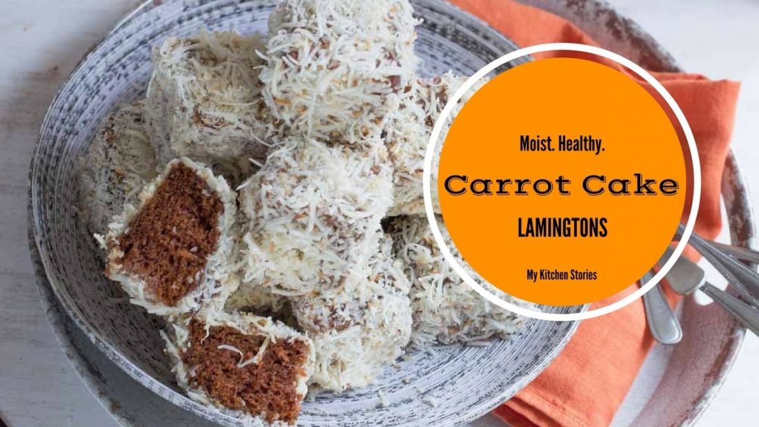lamingtons made from carrot cake