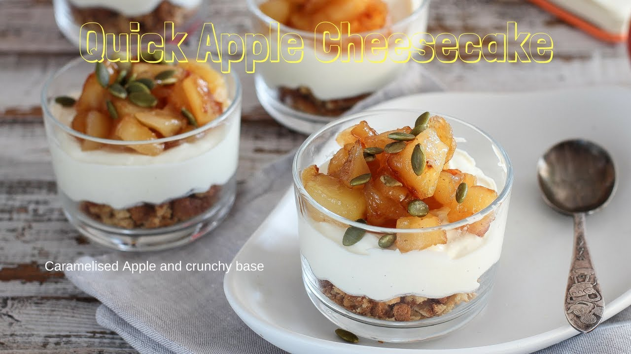 Small apple cheesecake pots