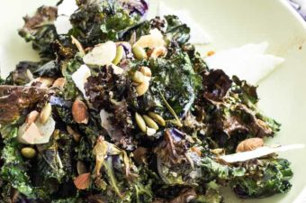 Kalettes Salad in a bowl