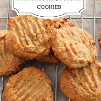 Banana Cookies with peanut butter