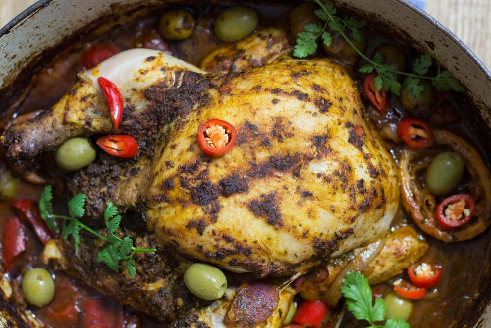 Chermoula Chicken in a pot