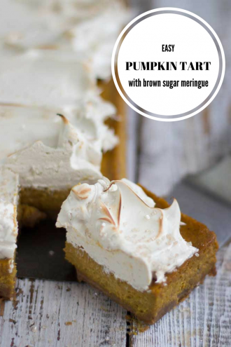 A slice of Easy Pumpkin tart