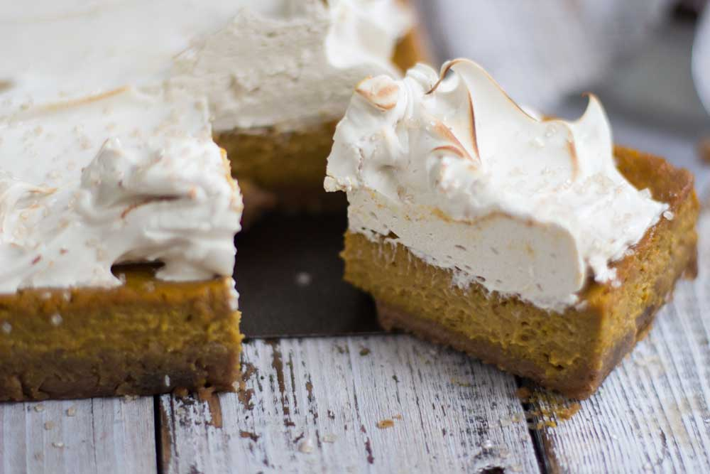 Sliced Pumpkin tart
