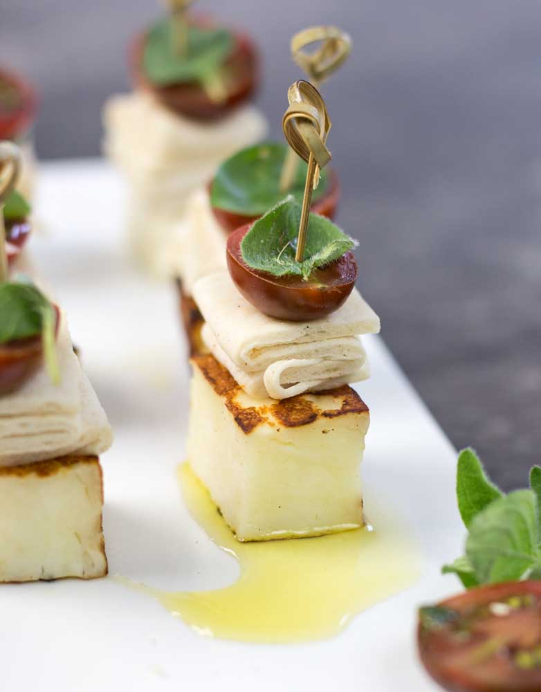 Haloumi Bites on a platter