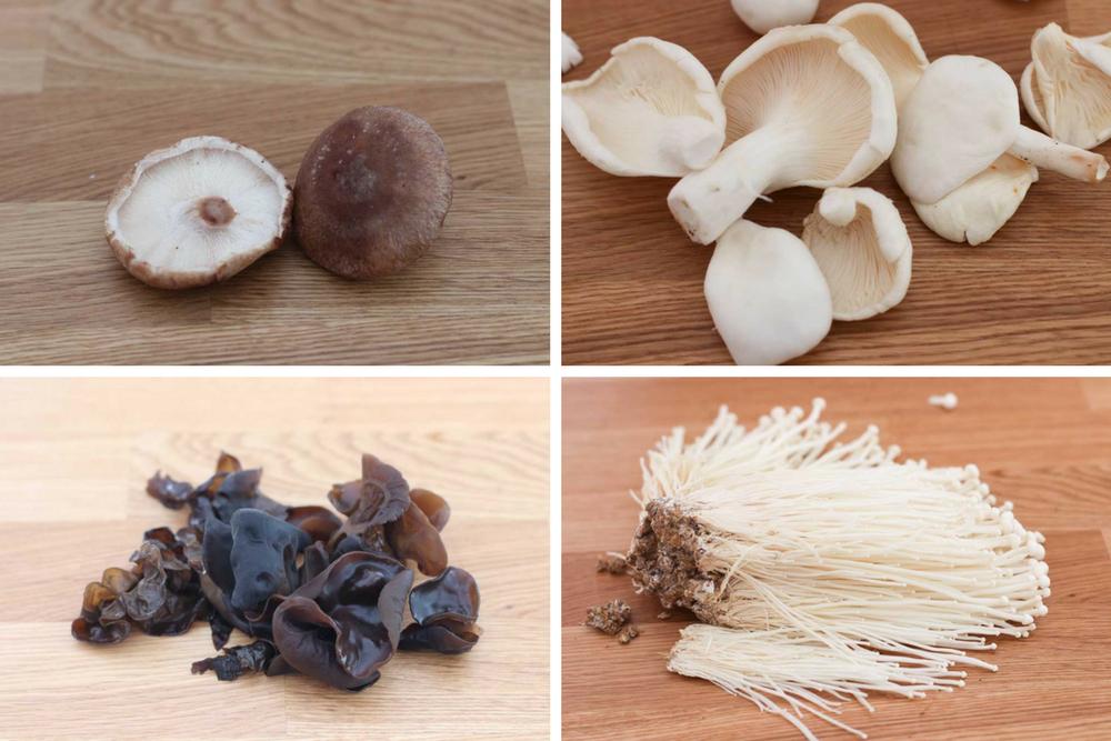 Roast Mushrooms 4 kinds