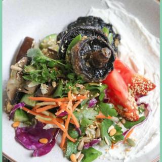 Roast Mushrooms salad Bowl