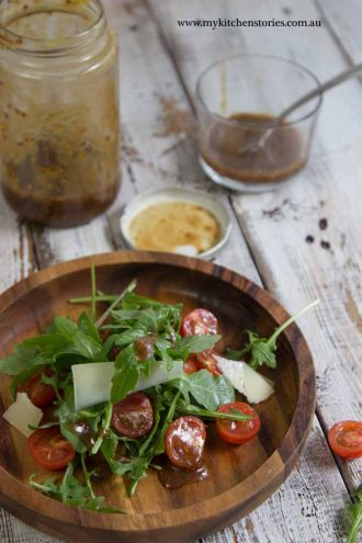 Mustardy Balsamic Dressing with salad
