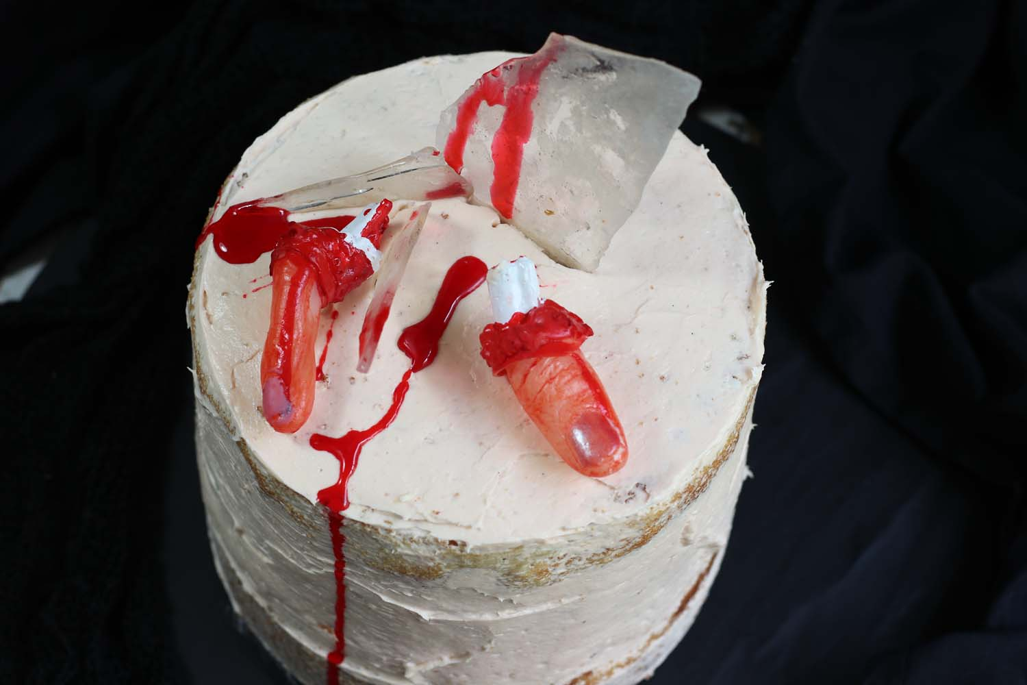 halloween Severed Finger cake
