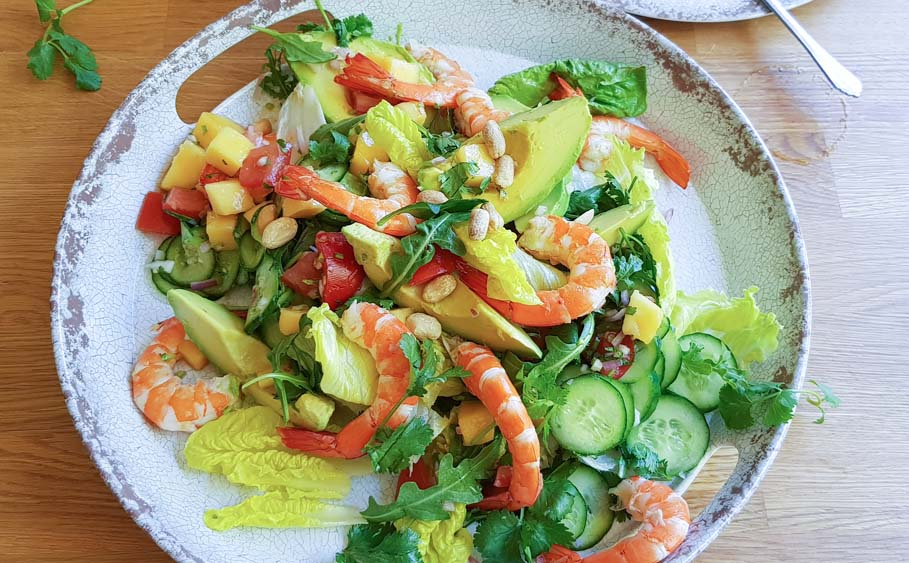 Prawn Salad with Mango salsa