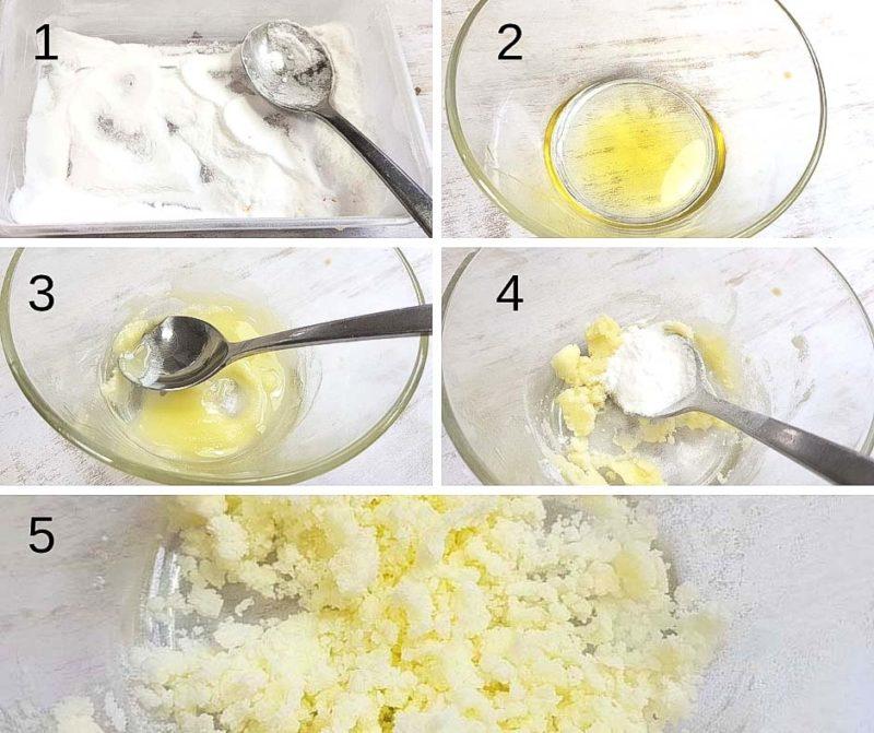 Making olive oil powder
