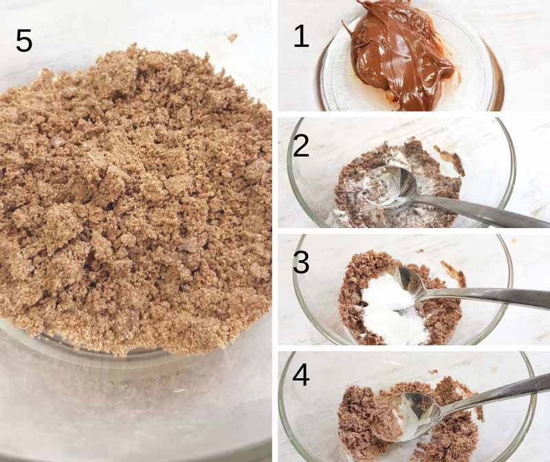 The 5 stages of making nutella powder