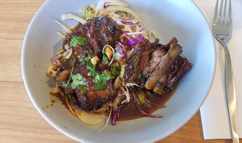 Ribs with slaw Archibald Hotel