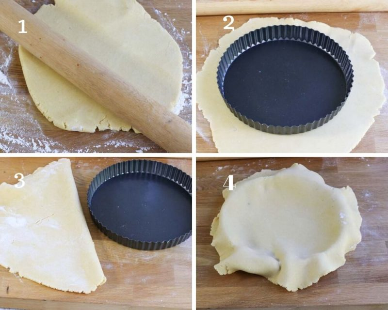 The steps to Rolling out shortbread pastry