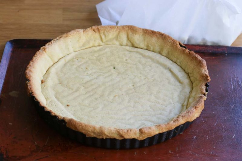 Baked shortbread pastry