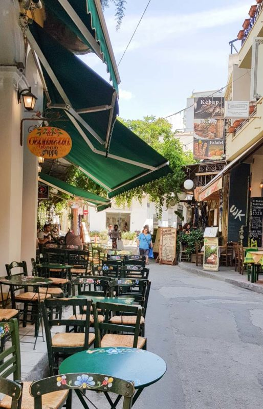 Monastiraki District Restaurant on the streets
