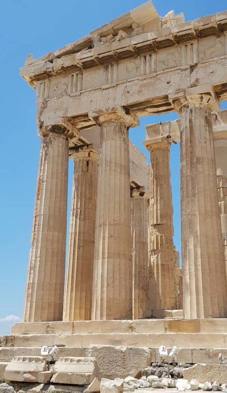 The beautiful stones of the Acroplois Athens