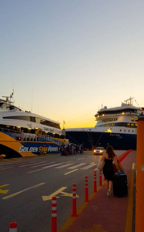 7 am ferry to Naxos Islands in Graeece