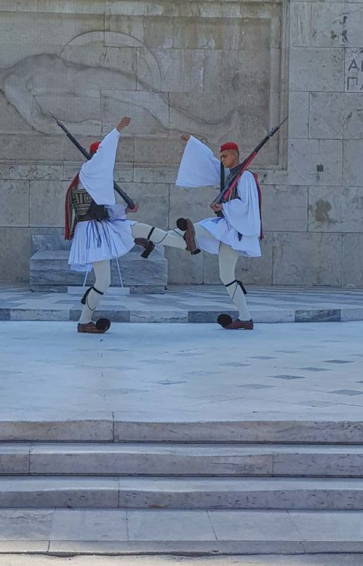 Changing of the guard ebvery Sunday in Athens