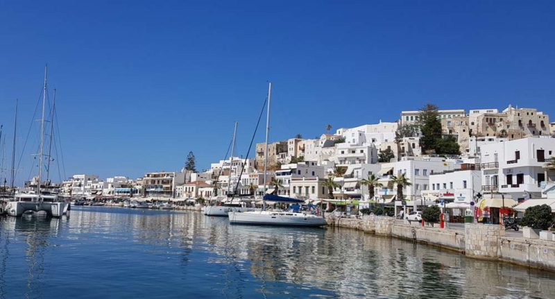 The harbour in Naxos Island greece