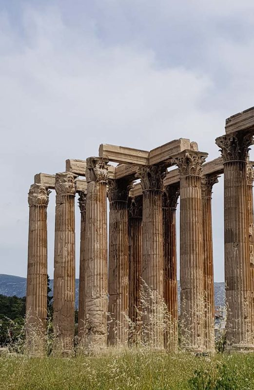 The Temple of olympian Zeus near Hadrians gate, Athens
