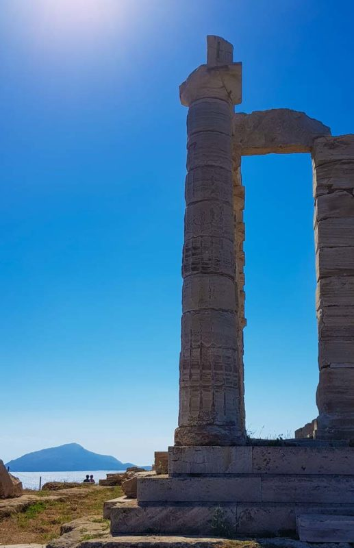 The Temple of Poseidon, Greece in the afternoon sun