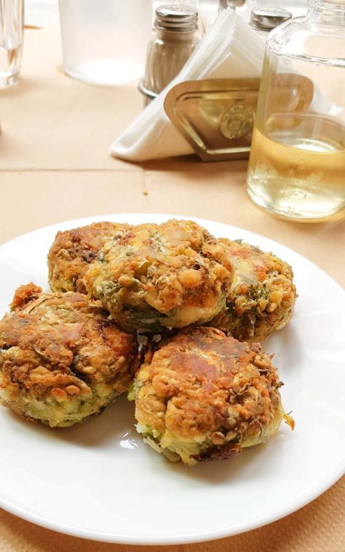 Golden Zucchini fritters in Athens