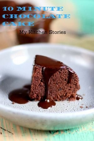 a chocolate cake with dripping sauce