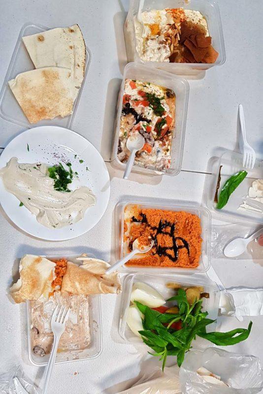 A table full of Syrian cuisine